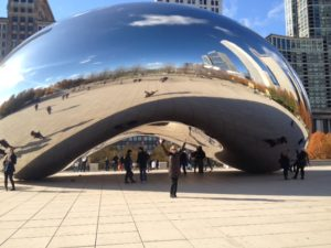 Yep, that's me under The Bean.